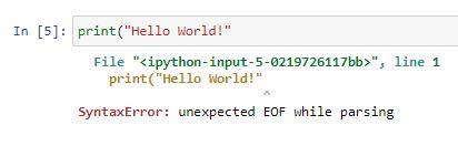 Syntax error 4